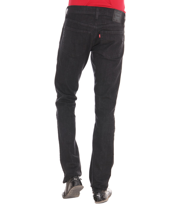 Levi's Regular Straight Fit Black Jeans - 504