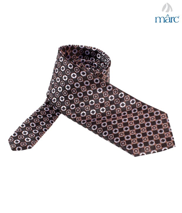 Marc Brown Octagon Silk Necktie