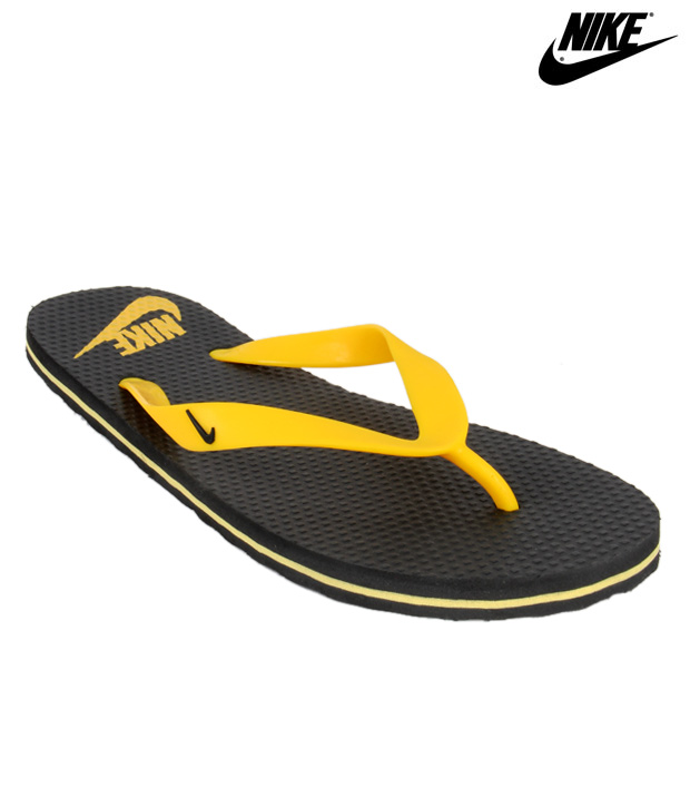 Nike Aquahype Black & Yellow Slippers