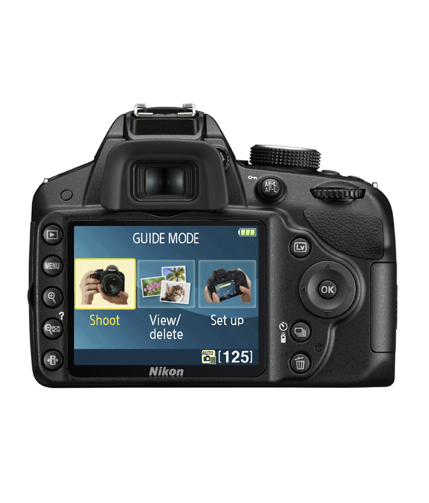Nikon D3200 (Black) DSLR with  AF-S 18-55mm VR Kit Lens