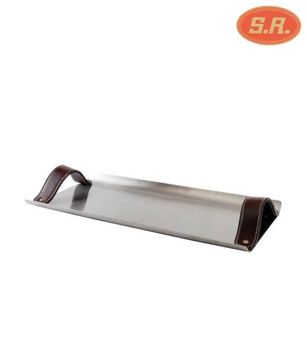 SRC Rectangle Tray With Leather Handle (R661)