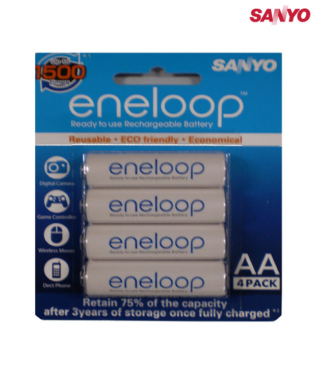 Sanyo Eneloop 4HR-3UTG-SECP-BP  Rechargeable Battery