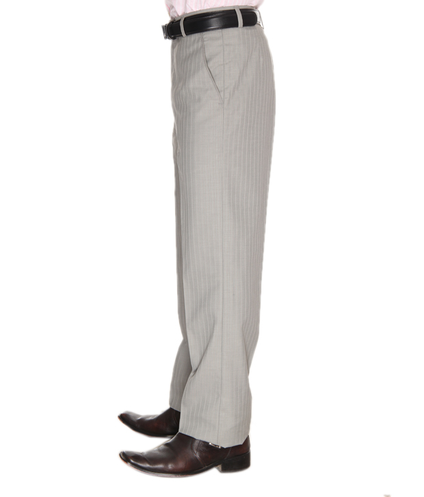 Springo Grey Striped Trousers