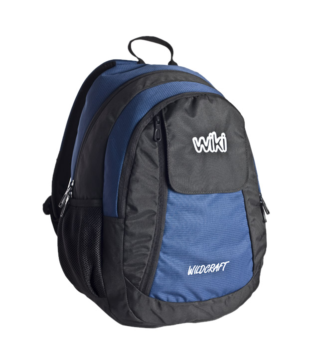 Wildcraft Stunning Blue Black Campus Backpack