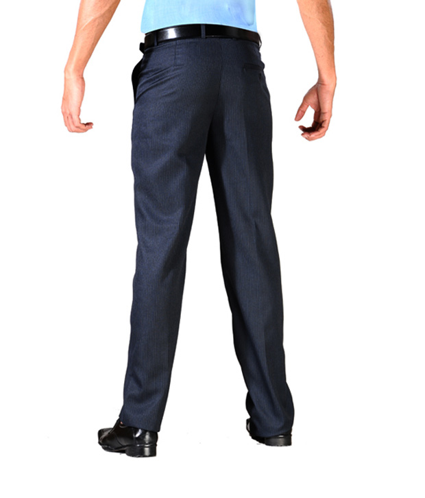Yepme Office Formal Blue Trousers  YPMTROU0006