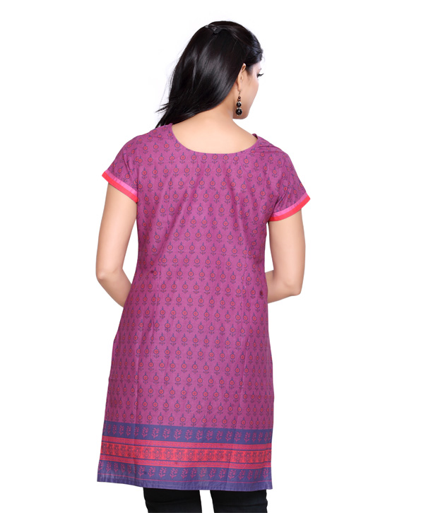 Folklore Ethnic Purple Kurti