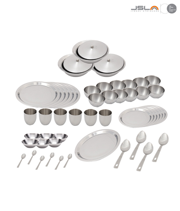 Krome Classic Dinner Set of 55 pcs