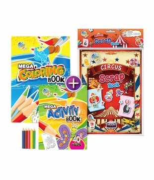 Gogo Kids Stripes And Colors Activity & Coloring Book Combo Pack (Pack of 2 sets)
