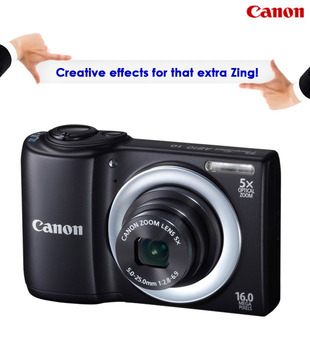 Canon PowerShot A810 16MP Camera (Black)