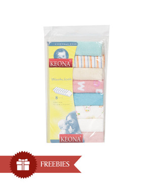 Keona Kidz Cute Pink Baby Blanket & Teddy Set