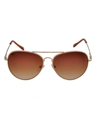 Reebok Stylish Gold Aviator Sunglasses