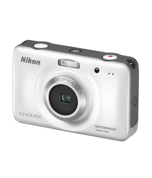 Nikon Coolpix S30 Point & Shoot Digital Camera (White)