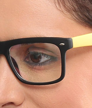 Joe Black Stylish Black Yellow Optical Frame