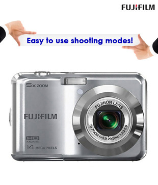 Fujifilm Finepix AX-500 Point & Shoot Digital Camera (Silver)