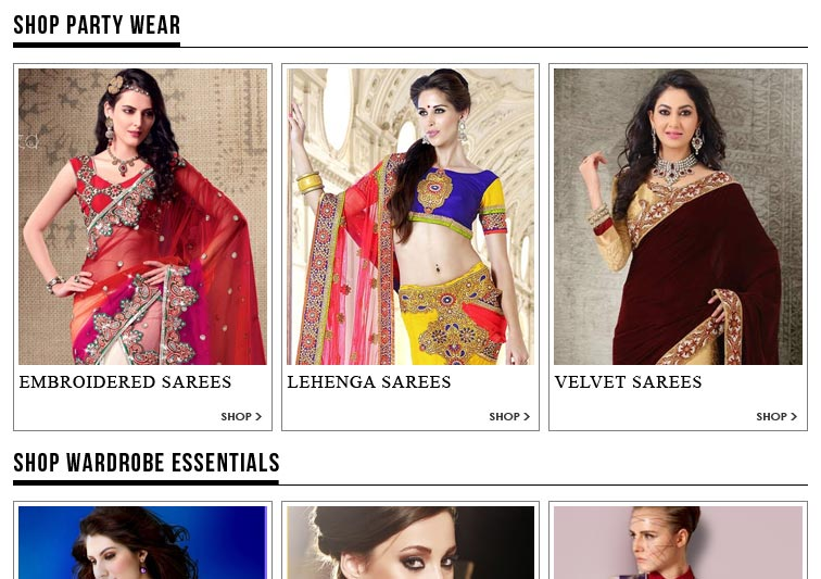 Snapdeal.com Sari / Saree under Rs 300 Rs. 400 and Rs. 500 offer